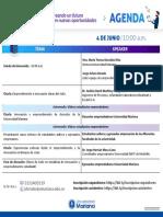 Agenda I muestra virtual de emprendimiento e innovación