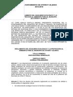 Reglamento Del Equilibrio Ecológico y La Proteccion Al Ambiente Para Elmunicipio de Othon p. Blanco