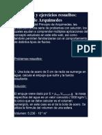 PRINCIPIO DE ARQUIMEDES (FISICA II)