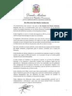 Mensaje del presidente Danilo Medina con motivo del Día Mundial del Medio Ambiente 2020