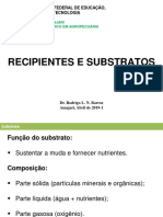 AULA 4 (RECIPIENTES E SUBSTRATOS)