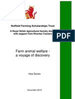 Animal Welfare-A Voyage of Discovery