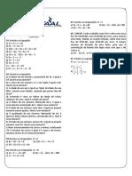 Ficha 04 - Equação e inequação do 1º Grau