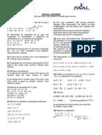 Lista B - Estudos
