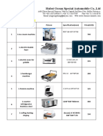 Equipment Device List for Fast Food From Joyce