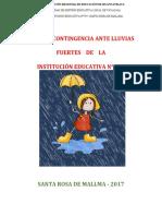 PLAN DE CONTINGENCIA ANTE LLUVIAS