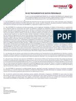 TRATAMIENTO DE DATOS PERSONALES NICOMAR (1)
