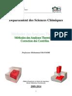 Les Contrôles Méthodes Thermiques Et Thermomécaniques 2009-2014