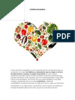 Comida y alimentos Saludables