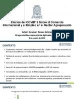 COVID19 Comercio y Empleo - Sector Agrícola