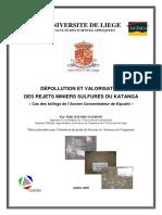 pollution et valorisation de réjet minier