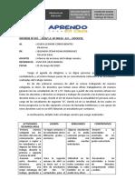 INFORME DE MARZO Y ABRIL, CESAR   ROJAS RODRIGUEZ