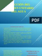 SELECCIÓN DEL VOLUMEN UNITARIO DEL AGUA