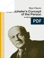 Max Scheler's Concept of the Person An Ethics of Humanism by Ron Perrin (auth.) (z-lib.org)