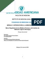 Marco Regulatorio de los Médicos Forense y del Instituto de Medicina Legal en Nicaragua