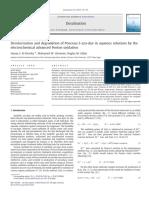 Descolorización y degradación del colorante azoico Ponceau S en soluciones acuosas mediante la oxidación Fenton avanzada electroquímica