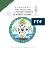 CATECISMO PRIMER GRADO DE APRENDIZ DEL RITO ANTIGUO Y PRIMITIVO DE MENFIS-MIZRAIM