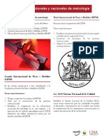 5. Organismos internacionales y nacionales en metrología
