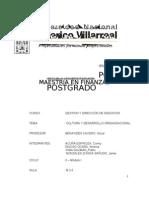 Trabajo Cultura y Desarrollo Organizacional 31.12.10
