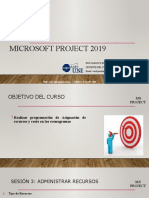 Microsoft Project 2019 - SESIÓN 3