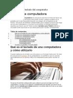 Funciones del teclado del computador