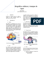 Revisión bibliográfica calderas y trampas de vapor