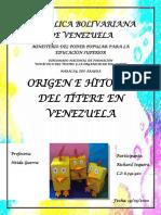 Origen e historia del Títere en Venezuela