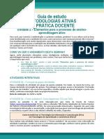 GUIA DE ESTUDO - Metodologias Ativas - Unidade2