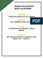TRABAJADO METÁLICO DE LAMINAS