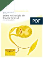 05 Traumatismos Exame Neurológico em Trauma Vertebral