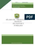 SILABO PRODUCCIÓN Y MANEJO DE PASTOS Y FORRAJES