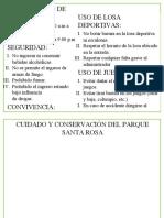 REGLAMENTO DE CUIDADO Y CONSERVACIÓN DEL PARQUE SANTA ROSA