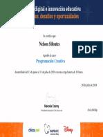 Certificado Programacion creativa