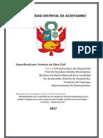 3.1. Especificaciones Técnicas de obra civil ACOSTAMBO