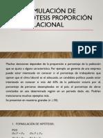 FORMULACIÓN DE HIPÓTESIS PROPORCIÓN