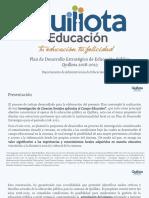 3. PLAN DE DESARROLLO ESTRATÉGICO DE EDUCACIÓN PÚBLICA QUILLOTA 2018 - 2023