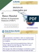 Informes de Seguimiento FinancieroFMRs