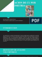 DETERMINACION DE CU POR  COMPLEXOMETRIA