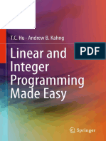 Hu T.C. - Linear and Integer Programming Made Easy