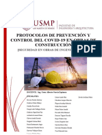 PROTOCOLOS DE PREVENCION EN EL SECTOR CONSTRUCCIÓN. Trabajo grupal.