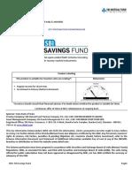kim - sbi savings fund