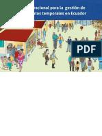 4. Guía Operacional para la gestión de alojamientos temporales en el Ecuador