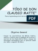 Metódo de Don Claudio Matte