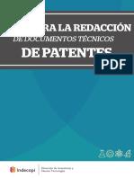 Guía para la redaccion de documentos tecnicos de patentes