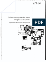 Evaluación Conjunta del Marco Integral de Desarrollo - 271540Spanish
