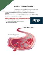Administrarea anticoagulantelor