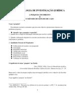 MIJ - A Pesquisa em Direito & o Metodo do Estudo do Caso - 2020