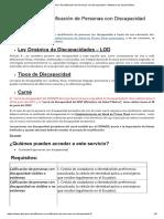 MSP _ DND Calificación o Recalificación de Personas con Discapacidad
