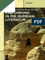 Géza G. Xeravits, Peter Porzig-Einführung in die Qumranliteratur_ Die Handschriften vom Toten Meer-Walter de Gruyter (2015)