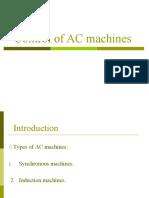 AC machines control